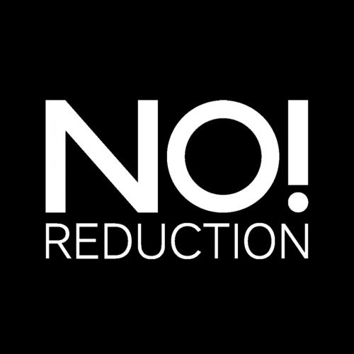 NO REDUCTION logotype